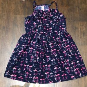 Girl Flamingo dress 5t 🦩